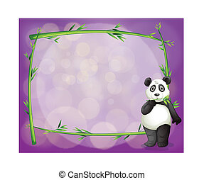 An empty frame with a panda