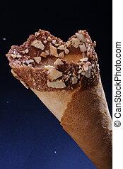 An empty icecream cone