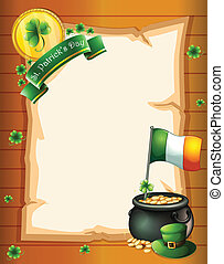 An empty paper template for St. Patrick's day