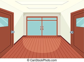 An empty room interior