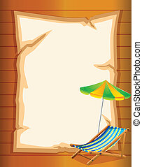 An empty stationery with a beach umbrella