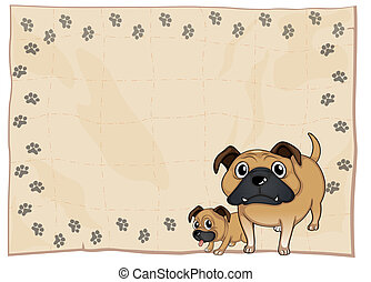 An empty stationery with bulldogs