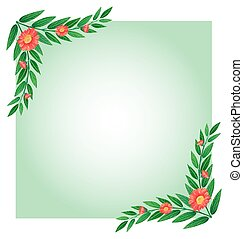 An empty template with plant borders