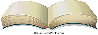 An empty thick book - Illustration of an empty thick book on...