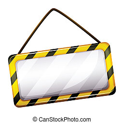 An empty under construction sign - Illustration of an empty...