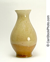 An empty vase of flower - -A vase of flower empty over a ...