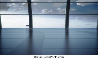 An empty waiting room animation - An empty waiting room with...