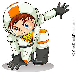 An energetic astronaut