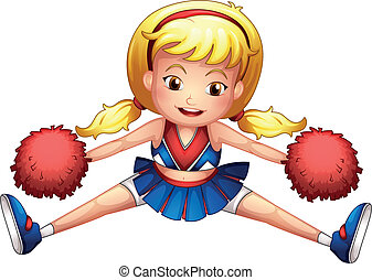An energetic cheerleader - Illustration of an energetic...