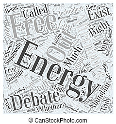 An Energy Alternative Free Energy Word Cloud Concept