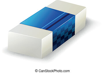 An eraser - Illustration of an eraser on a white background...
