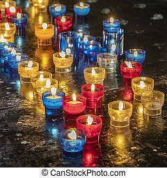 ernest wish symbolized by church candles - an ernest wish ...