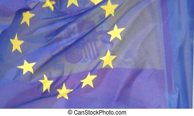 An European Union Flag