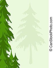 an evergreen trees background appropriate for stationary