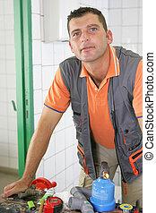 An experienced tradesman