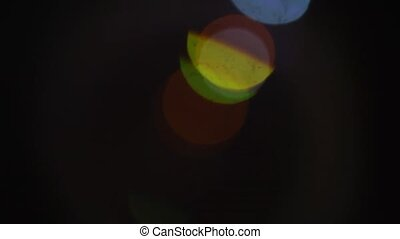 An extreme macro of a zooming camera lens. Footage