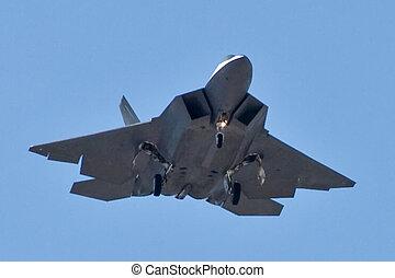 F-22 Raptor - An F-22 Raptor returns to Nellis.