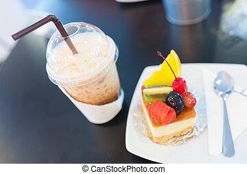 fruit cake in soft light