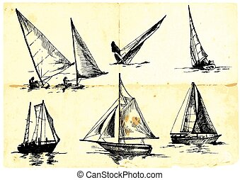 yachting - An hand draw  illustration - yachting
