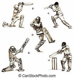 cricket - an hand drawn illustration - cricket