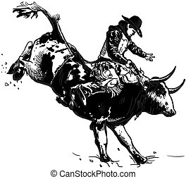 An hand drawn vector, freehand - Rodeo
