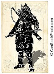 An hand drawn vector from Japan Culture - Samurai, Shogun