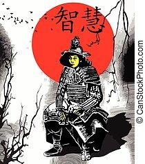 An hand drawn vector from Japan Culture - Samurai, Shogun