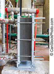 An heat exchanger - in the technical area, there are...