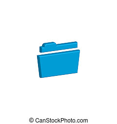 Icon Illustration Isolated on a Background - Folder