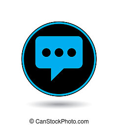 Icon Illustration Isolated on a Background - Speech Bubble with Dots