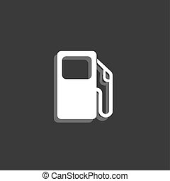 Icon Isolated on a Grey Background - Petrol Pump