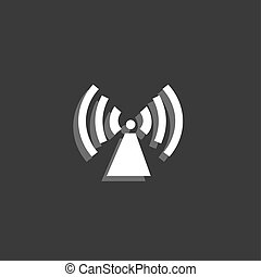 Icon Isolated on a Grey Background - Radio Tower