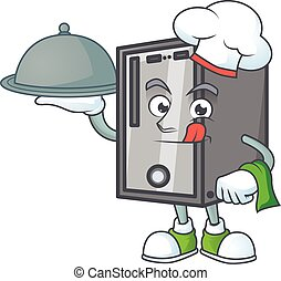 An icon of CPU as a Chef with food on tray ready to serve