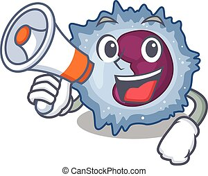 An icon of monocyte cell having a megaphone. Vector ...