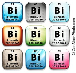 An icon with the chemical element Bismuth
