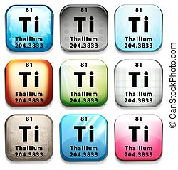 An icon with the chemical element Thallium