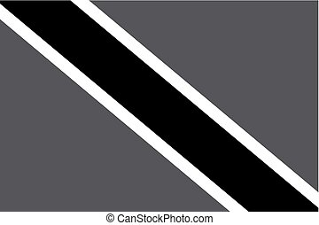 Illustrated grayscale flag of the country of Trinidad and Tobago