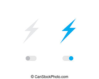 Illustrated Icon Isolated on a Background - Lightning Bolt