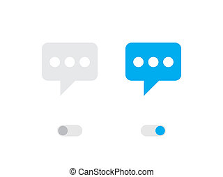 Illustrated Icon Isolated on a Background - Speech Bubble with Dots