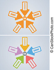 5S Concept - An illustration of 5S Concept in color and...