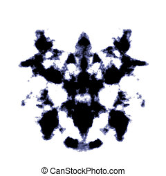 Rorschach - An illustration of a black and white Rorschach...