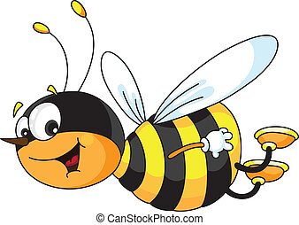cheerful bee - An illustration of a cheerful bee