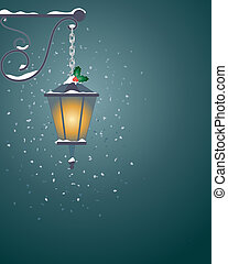 festive lantern - an illustration of a christmas festive ...
