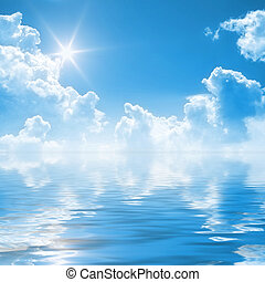 blue sky background - An illustration of a clear blue sky...