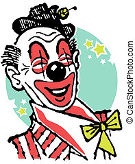 An illustration of a clown