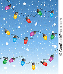 fairy lights - an illustration of a colorful set of...