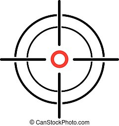 Illustration of a crosshair reticle on a white background -...