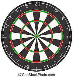 An illustration of a dartboard.