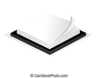 An illustration of a desk notepad or post it isolated on white