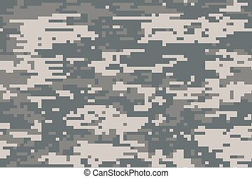 Illustration of a Digital camouflage pattern - An...